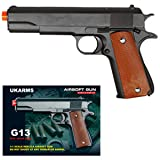 UKARMS COLT 1911 Metal Airsoft Spring Action Pistol M1911 M9 Gun - Black (Color: Tan and Black)