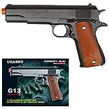 UKARMS COLT 1911 Metal Airsoft Spring Action Pistol M1911 M9 Gun - Black