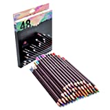 48 Professional Oil Based Colored Pencils for Artist Including Skin Tone Color Pencils for Coloring Drawing and Sketching (Tamaño: 48)