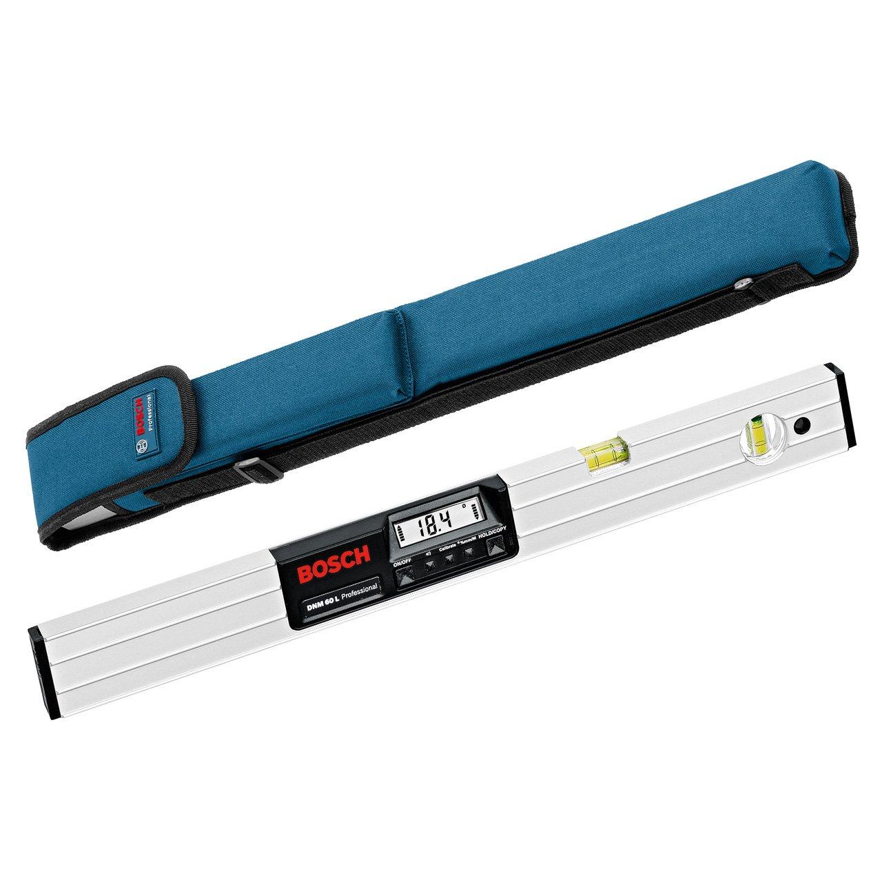 Bosch Professional DNM 60 L, 60 cm Länge, 0  360° Messbereich, ± 0,05° Messgenauigkeit , Schutztasche, 1 x 9V6LR61Batterien (AA)  BaumarktKritiken und weitere Informationen