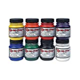 Jacquard Products JAC8000 Dye-NA-Flow Liquid Color (8 Pack), 2.25 oz, Primary, Secondary, Black/White, Assorted (Color: Assorted, Tamaño: 2.25 oz)