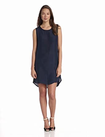 Michael Stars Women's Sandwashed Silk Shift Mini Dress, Ship, One Size