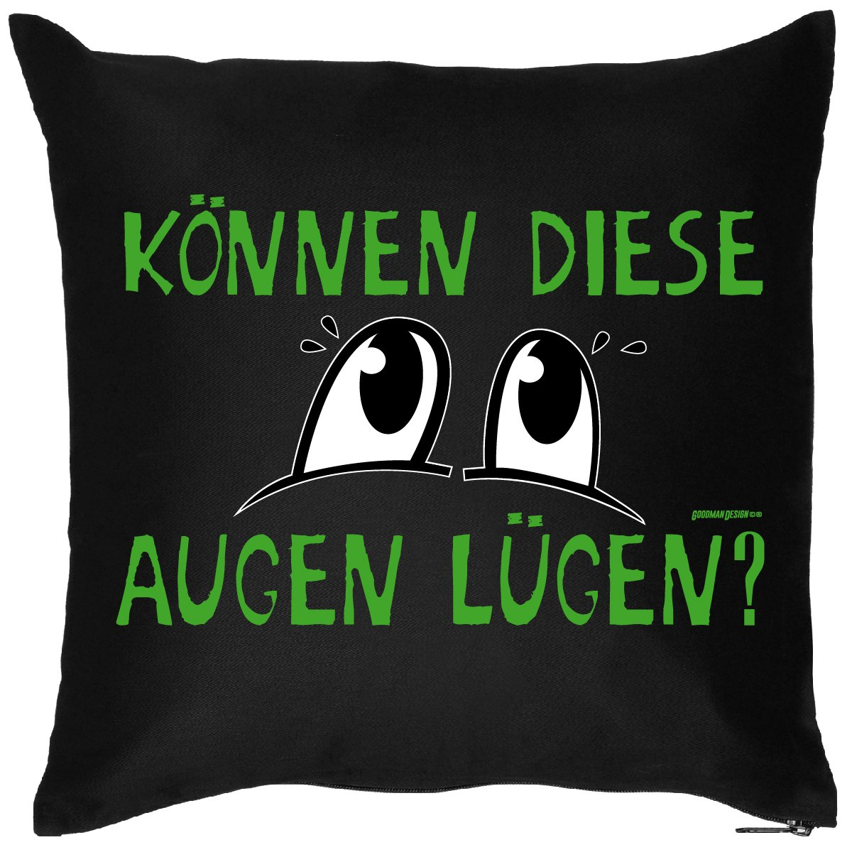 Lustiges Geschenk Sprüche Kissen : Augen / Können diese Augen lügen ? - Kissen mit Füllung