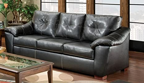 Chelsea Home Furniture Essex Sofa, Thomas Black