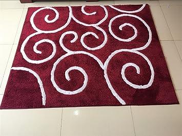 Alfombras de moda y alfombra de salón Moderno Simple Grande Alfombra Sala de estar Mesa de centro Sofá Estudio Dormitorio Dormitorio alfombra Alfombrillas de puerta Viento Rojo Almohadilla giratoria para silla ( Tamaño : 120*170cm )