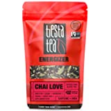 Spiced Chai Black Tea | CHAI LOVE 1.9 Ounce Pouch by TIESTA TEA | High Caffeine | Loose Leaf Black Tea Energizer Blend | Non-GMO