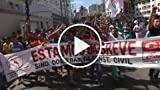 Construction Workers Strike in Fortaleza, Anti-World...