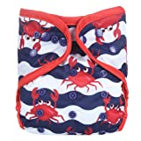 One Size Fit All Baby Reusable Waterproof Diaper Nappy Cover Double Gussets (Color: Color No 9, Tamaño: One Size)