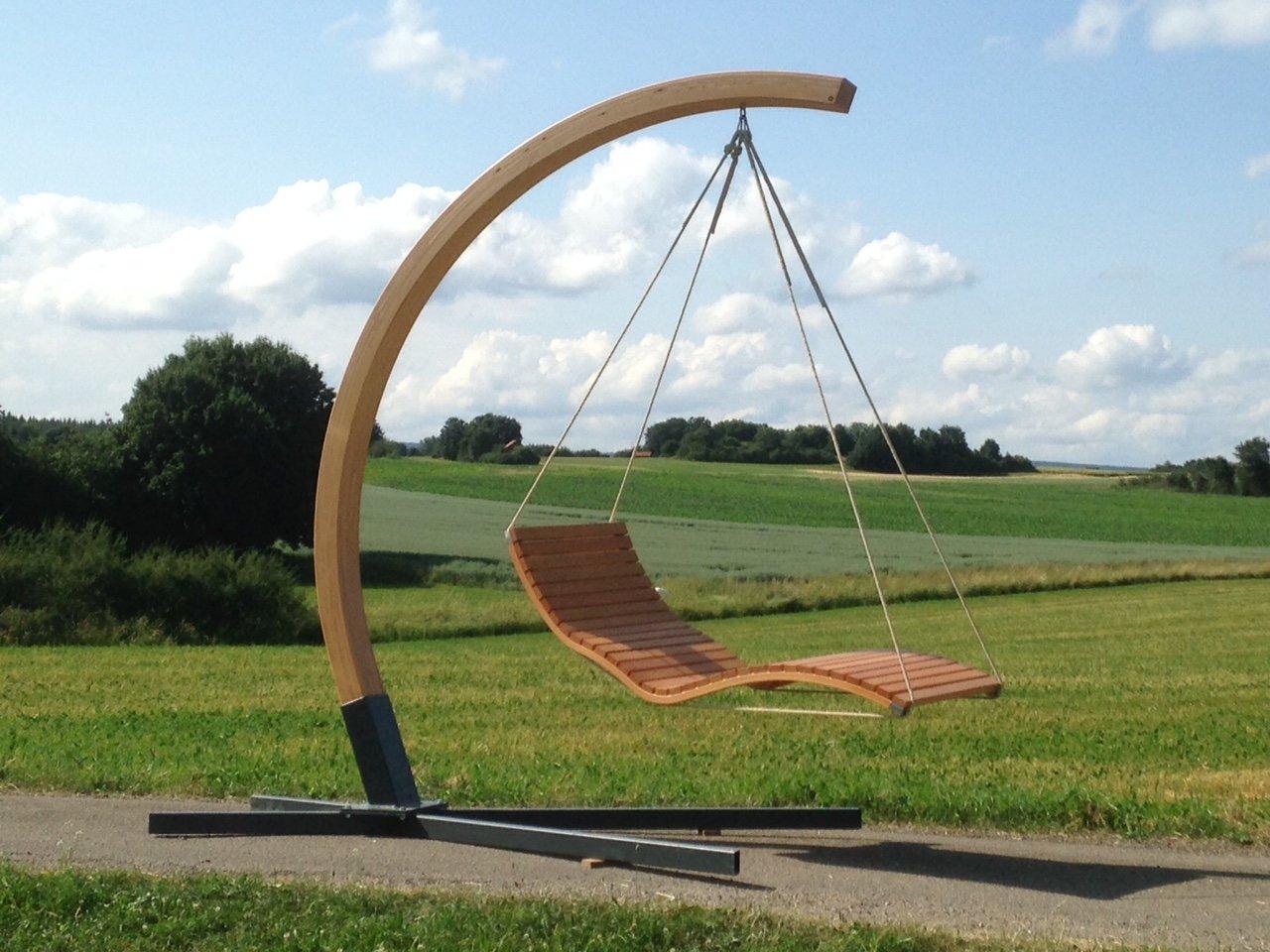 Aufhängebogen mit Stahlfuß für Hängeliege aus Holz, für den Garten, Sonnenliege, Relaxliege, Gartenliege, Schwebeliege online bestellen