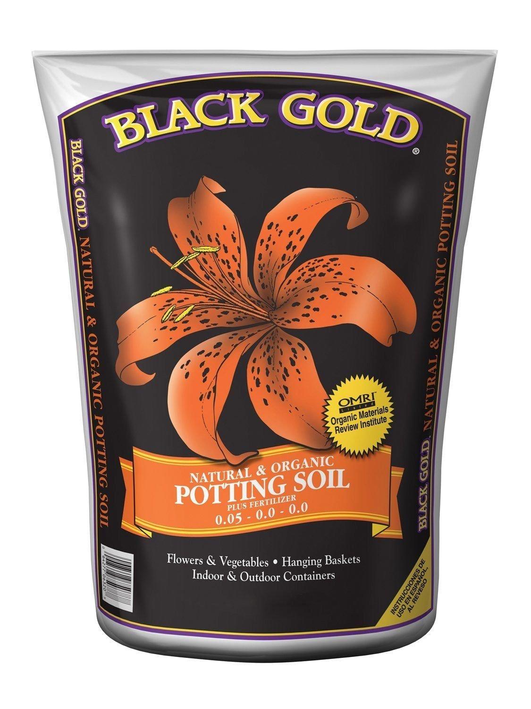 Black gold 1302040 8 quart all organic potting soil 8 for Organic soil solutions