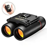 Small Binoculars for Kids, TopElek 8x21 Waterproof Pocket Folding Telescope, Compact Mini Binoculars for Concert Theater, Bird Watching, Hunting, Trav
