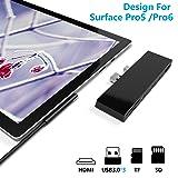 ?Upgraded Version? Surface Pro 5 /Pro 6 Docking Station, Ketaky 6 in 1 Surface Pro Hub, SD/TF(Micro SD) Memory Card Solt + 3X USB 3.0 Ports (5Gps) + 4K HDMI Combo Surface Pro Adapter (Color: Microsoft Surface Pro 5 /Pro 6 Hub)