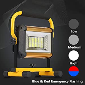 OTYTY 8000LM 100W COB Rechargeable Portable LED Work Light [100LEDs,1000W Equivalent], Waterproof LED Flood Lights for Outdoor Camping Hiking Emergency Car Repairing Workshop Job Site Lighting (W850) (Color: W850)