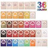Epoxy Resin Mica Powder Tumblers Dye 36 Color Pigment Kit Set for Candle Soap Making Dye, Bath Bomb Colorant, for Slime Supplies Pigment, Craft Projects (Color: 36 Colors Bag)