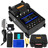 Mophorn Precision Fusion Splicer Automatic Focus FTTH 4.3 Inch Digital LCD Screen with 8s Splicing Time Melting Fiber Optic Fusion Splicer 28s Preheating Fusion Splicer Machine Fiber Cleaver Kit (Color: 8s Splicing Time/28s Heat Time)