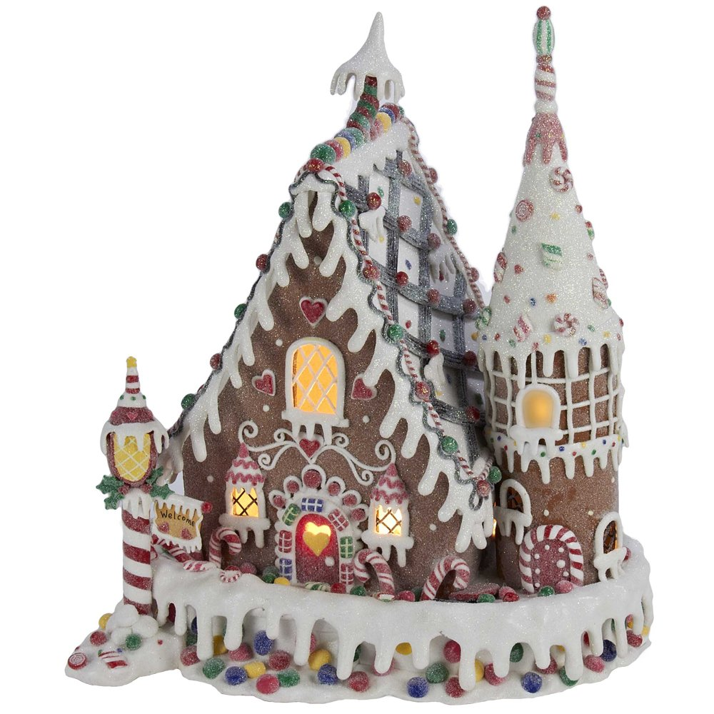 Lighted Gingerbread House Table Decorations | Christmas Wikii