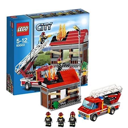 Lego City - 60003 - Jeu de Construction - L'intervention du Camion de Pompier