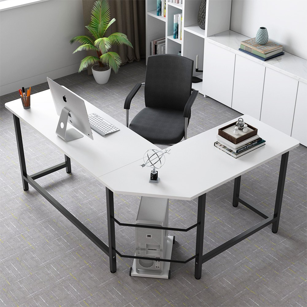 Computer Desk Pc Laptop Wood Table Home Office Study: Tribesigns Modern L-Shaped Desk Corner Computer Desk PC