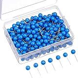 Map Tacks Push Pins Small Size 300 Packs (Blue, 1/5 Inch) (Color: Blue, Tamaño: 1/ 5 Inch)