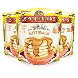 All Natural Buttermilk Pancake and Waffle Mix by Birch Benders, Made with Real Sweet Cream and Buttermilk, Non-GMO Verified, 72 Ounce (24oz 3-pack) (Color: Buttermilk, Tamaño: 3 Pack)