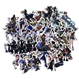 Video Game Themed Kingdom Hearts 50 Piece Sticker Decal Set for Kids Adults - Laptop Motorcycle Skateboard Decals (Color: Kingdom Hearts, Tamaño: One Size)
