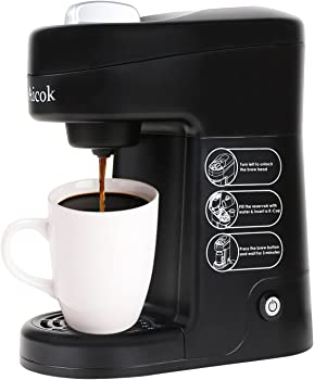 Dimensions Of Coffee Maker : Aicok Travel-Size Single-Serve K-Cup Coffee Maker (Black) from Amazon.com for USD 24.39