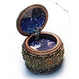 Antique JP Premium Classical Music Box Jewelry Box for Women Men Girls Boys 18 Note Perfect for Christmas Gift Birthday Gift Valentine's Day (Upgraded Version, Tune Canon in D)