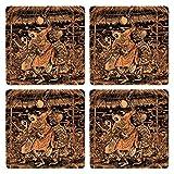 Posterboy The Alien Lalon MDF Coaster Set, Set Of 4, 101mm, Multicolor