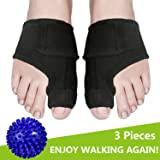 Bunion Splints, Bunion Corrector and Bunion Relief Pads with Bunion Tape for Hallux Valgus, Big Toe Joint, Overlapping Hammer Toes withFoot Massage