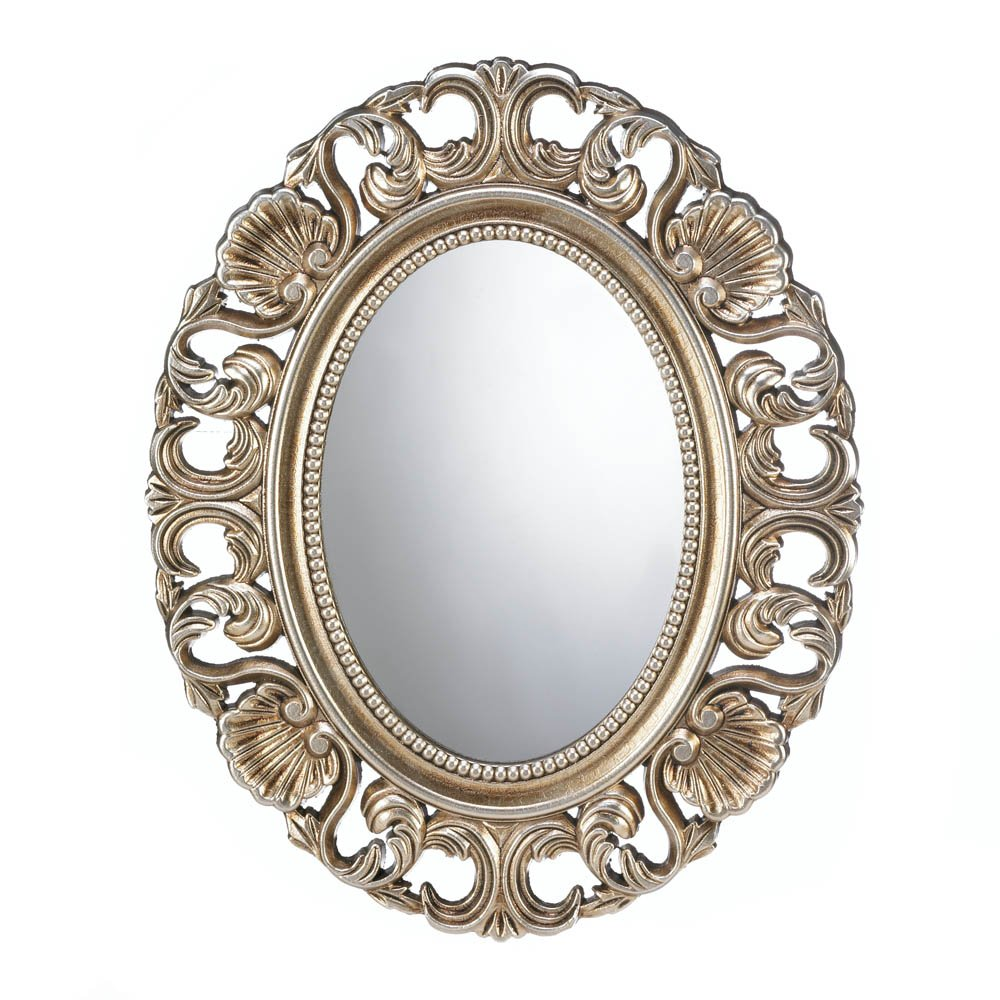 Koehler Home Decorative Gilded Oval Wall Mirror 0