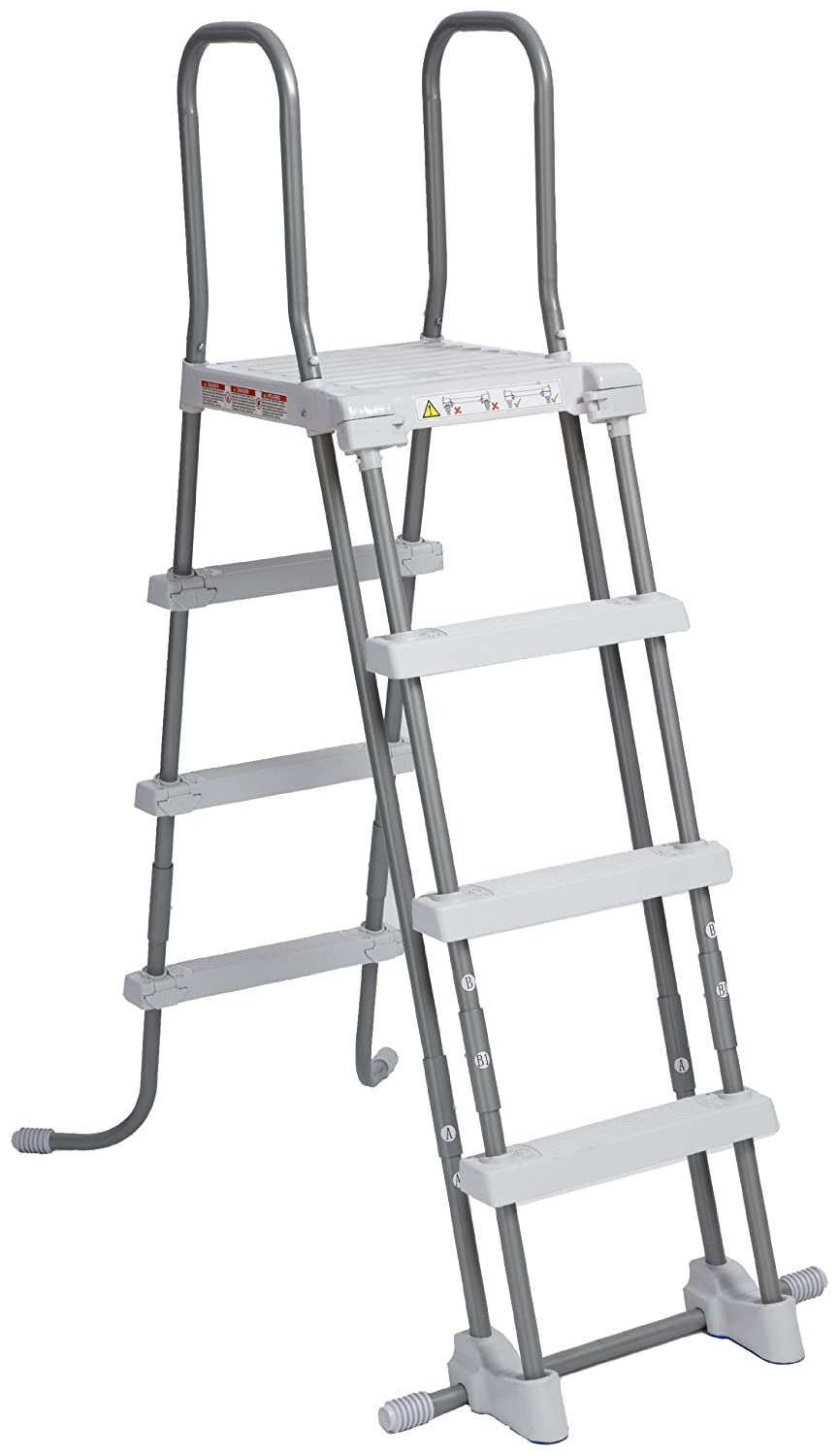 Intex deluxe pool ladder with removable steps for 36 inch for Accesorios piscinas desmontables