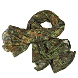 Tsmile Thicken Military Men Scarves Arab Tactical Desert Army KeffIyeh Net Cloth Scarf Shawl (A) (Color: A, Tamaño: 50cm*170cm)