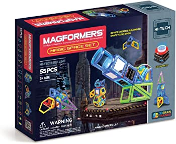 Magformers LED Lighted Hi-Tech Magic Space Set