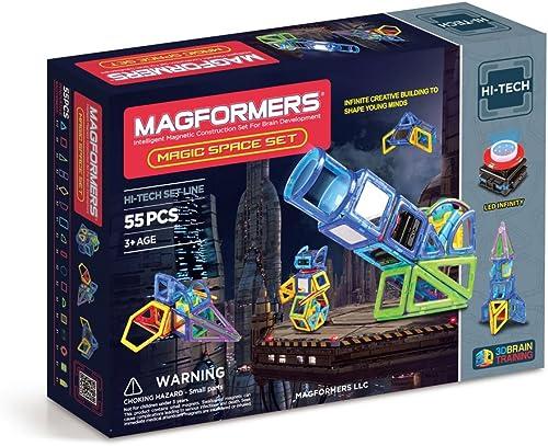 Magformers LED Lighted Hi-Tech Magic Space Set
