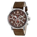 Wenger Men's 01.1243.102 Commando Chrono Analog Display Swiss Quartz Brown Watch (Color: Brown)