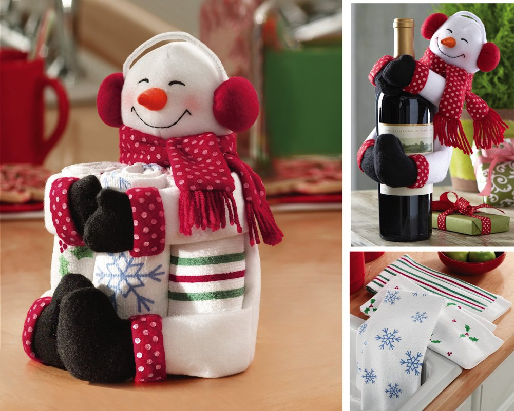 Snowman Kitchen Towel Gift Set