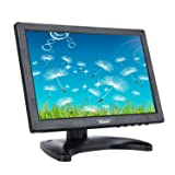 Eyoyo 10 Inch IPS LCD Monitor 1280x800 Resolution Support HDMI VGA BNC AV Input for PC TV Security display(10 inch) (Color: 10 inch)