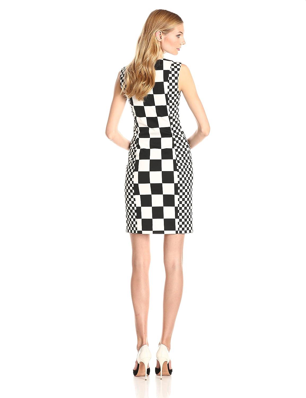 Checkered Sheath Dress