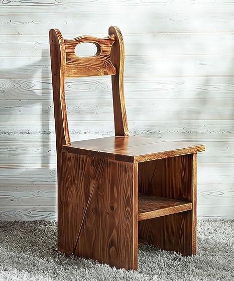 WUFENG Multifunktion sleiter Stuhle Nordic Creative Vier-Schichten Faltbare Multilayer Massivholz Stuhl Leitern Treppenhaus Hocker Schritt Hocker