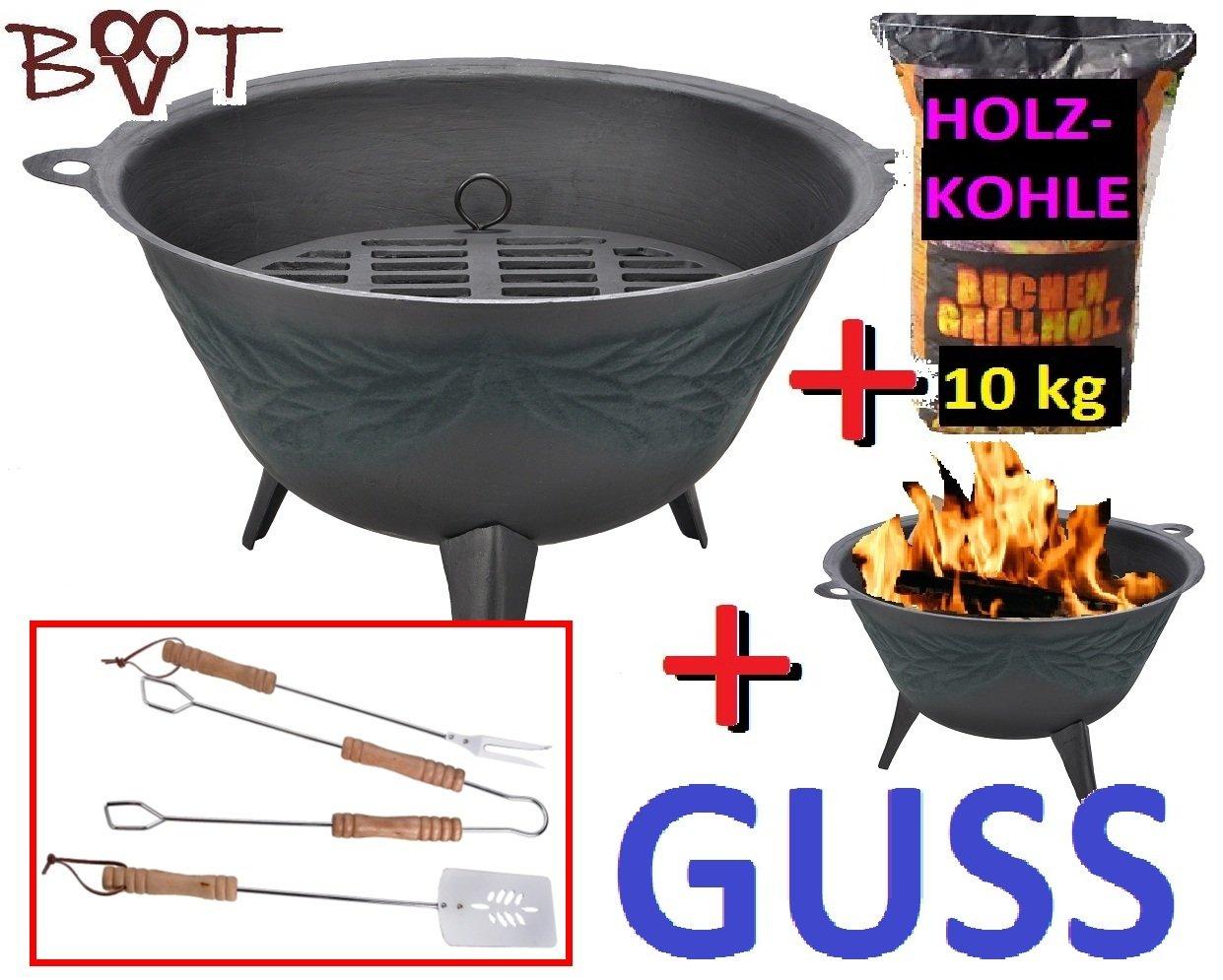 Stabile grosse Feuerschale + 10 kg GRILLKOHLE Feuerstelle Feuerkorb Terrassenofen GRILL jetzt kaufen