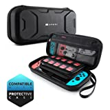 Mumba Carrying Case for Nintendo Switch, Deluxe Protective Travel Carry Case Pouch for Nintendo Switch Console & Accessories [Dual Protection] [Large Capacity] (Black)