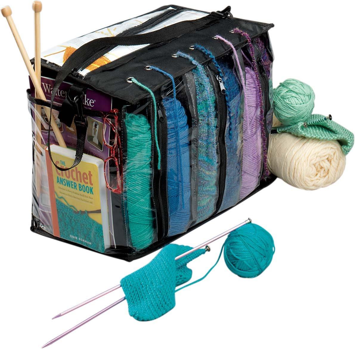 Knitting Yarn Holder Bag : Knitting tote bag skein yarn holder crocheting supply