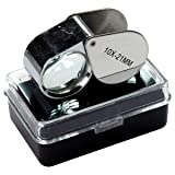 HTS 202A0 10x 21mm Stainless Steel Jeweler's Singlet Loupe (Color: Stainless Steel, Tamaño: 10x 21mm)