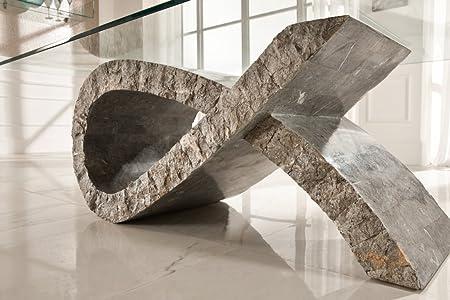 Mesa de centro Iker. CM Altura 36P 70L 120. Colores blanco–gris