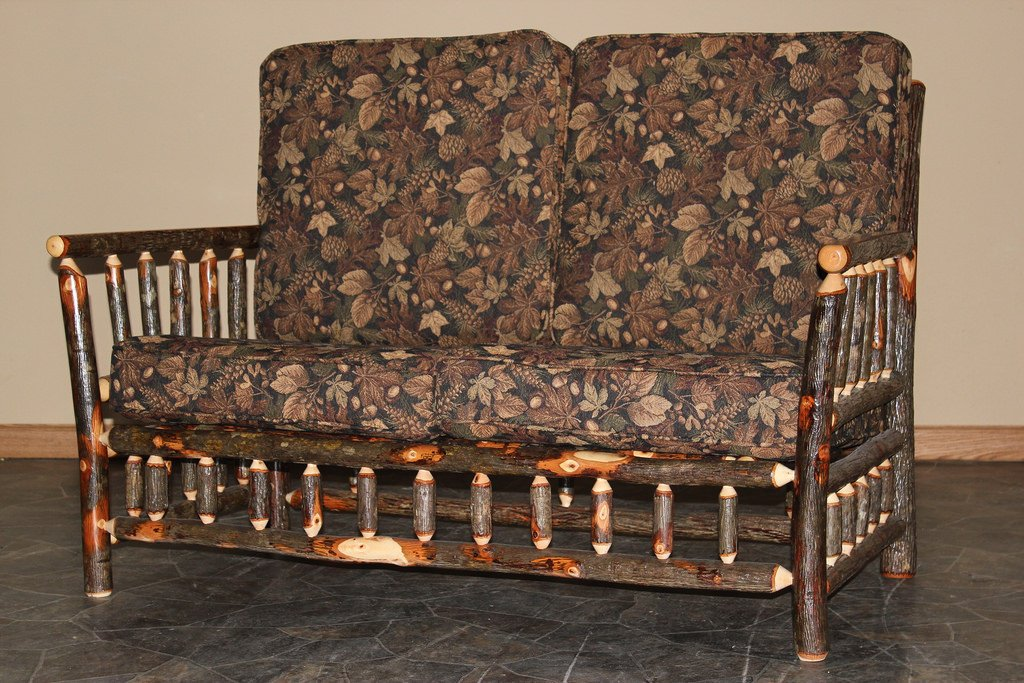 Rustic Hickory Club Love Seat *6 Color Options*