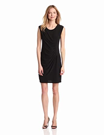 Tiana B Women's Fabulous and Flattering Dress, Black, 4
