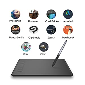 Huion Inspiroy H640p Graphic Drawing Tablet Battery Free Stylus Pen