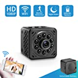 Spy Camera-Hidden Camera-Mini Camera-Nanny Cam-SOOSPY 1080P Wireless Wifi Spy Camera with Night Vision,Motion Detection,Detachable 500mAh Battery for Indoor Outdoor Use (Color: Black)