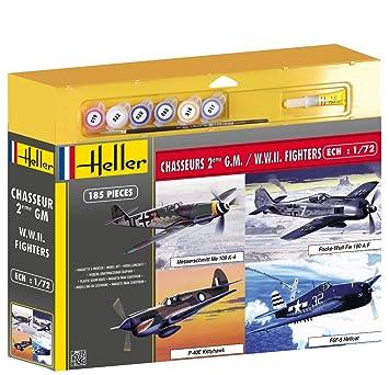 Heller - 53002P - Maquette - Chasseurs Deuxième Guerre Mondiale - 4 Modèles