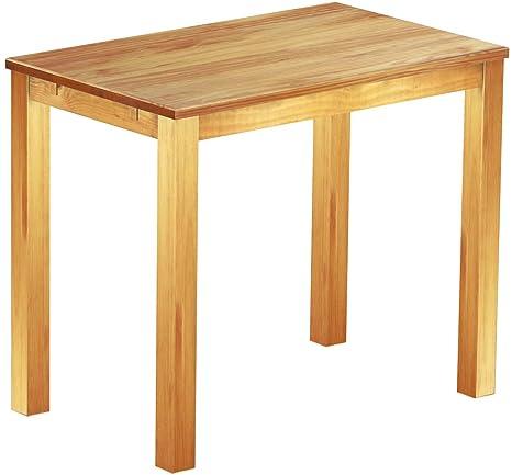 Brasil Mobili alto tavolo 'Rio classico' 130x 80cm, in legno di pino massiccio, tinta Miele